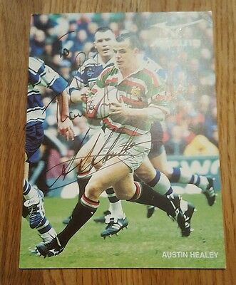signed rugby photograph