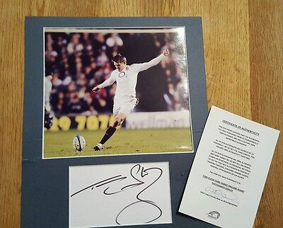 Autograph and photograph, Toby FLOOD ENGLAND