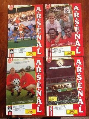 Arsenal football programmes