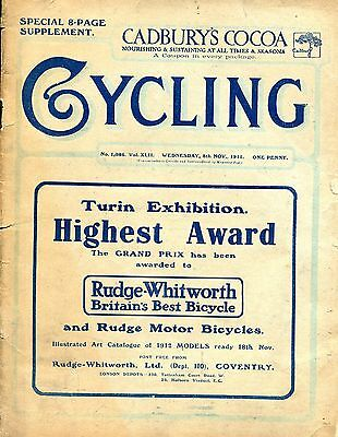 """""""Cycling"""" Nov.8th. 1911, Special 8-page Show Supplement."""