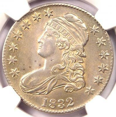 1832 Capped Bust Half Dollar 50C - NGC AU Details - Rare Coin - Nice Luster!