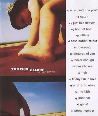 The Cure Galore The Videos 1987-1997 Vhs Like New Very Rare No Cd Dvd Lp Album