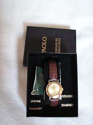 Womens Paolo Gucci Watch, Genuine Diamond, Brand new, Ladies watch