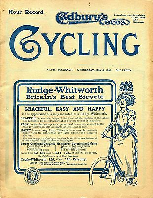 """""""Cycling"""" May 5th. 1909, """"Hour Record Issue"""""""