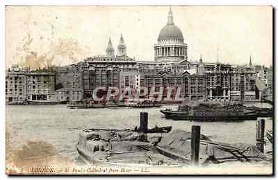 Angleterre - England - London - St Paul's Cathedral from River -- CPA