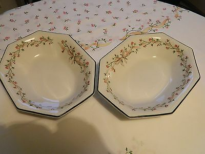 Pair Of Johnson Brothers Eternal Beau Oval Serving Bowls - Perfect