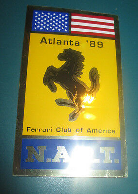 FERRARI Club of America 1989 Atlanta Annual Meet Sticker Decal NART