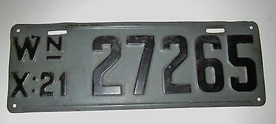 1921 Washington License Plate - 27265