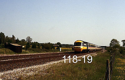 Original 35mm colour slide of an HST at Charlton with a Newquay train (118-19)