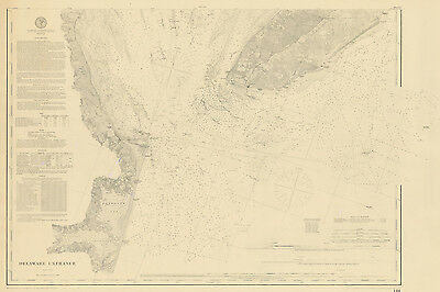 1886 Nautical Map of the Delaware Entrance