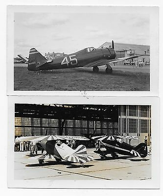 Two 1949/50 Photos (2 3/4 X 4 1/2) National Air Racer Betty Skelton