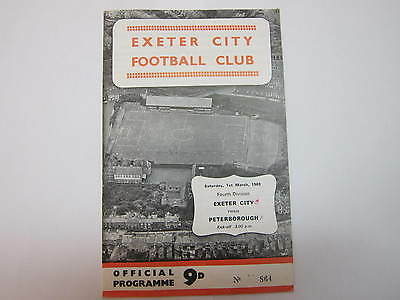 Exeter City v Peterborough 1 March 1969