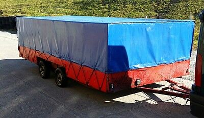 Covered Twin Axle Race Car Trailer