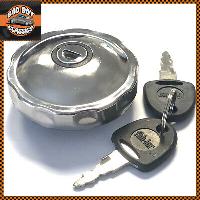 Locking Stainless Steel Classic Fuel Petrol Cap Fits MG, MINI, FORD + Others