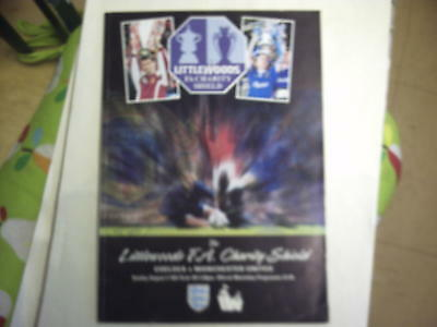 Chelsea v Manchester United 1997 Charity Shield Programme. LOOK.