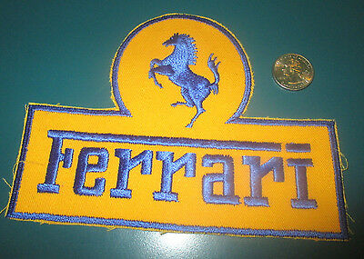 FERRARI 1970s Vintage Large Embroidered Patch FCA 250 330 365 306 246 Dino