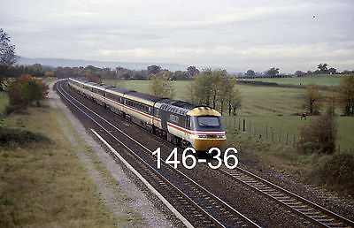 2 original 35mm colour slides of HST at Charlton with a Padd. train (146-36/7)