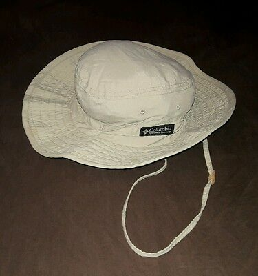 Columbia Hat Sportswear Tan Size Large Columbia Sportswear Drawstring Adjustment