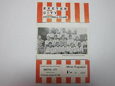 Exeter City v Bristol City 13 August 1969 - Football League Cup First Round