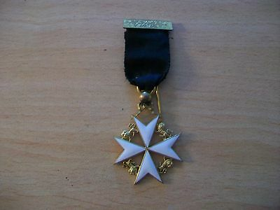 Masonic Knights Of Malta Vintage Jewel In Excelent Condition