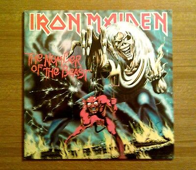 "Iron Maiden (Uk) ""The number of the beast"" Lp 1987."