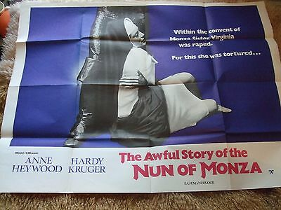 The Awful Story of the Nun of Monza (1969) Quad Film Poster X Certificate