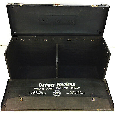 Antique Detmer Woolens Salesman Sample Clothier Mercantile Display BAL NY Case