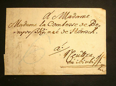 Hungary Stampless cover Gyor / Neutra 1793