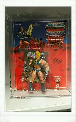 Masters of the universe Laser Power He-man OVP Motu inkl. SoraCase Spain RAR!!