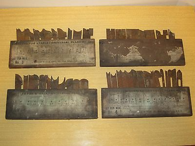 Vtg Stanley 1 2 3 4 Cutters No 55 for Universal Plane Set Boxes Lot Wood Tool