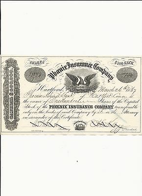 Phoenix Insurance 1867 CT Travellers/Citicorp a Temperance Company low price