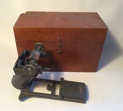 Antique Azimuth Prism Sight By SESTREL Orig Wood Box Boat Ship Compass Maritime