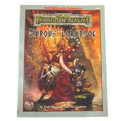 Advanced Dungeons & Dragons Forgotten Realms: Heroes' Lorebook TSR9525 AD&D