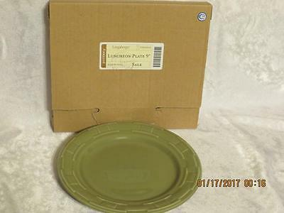 """LONGABERGER Pottery WOVEN TRADITIONS Round 9"""" Luncheon PLATE~SAGE"""