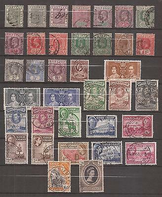 Gold Coast  -  Lote De  Sellos  ( Lot Of Stamps )