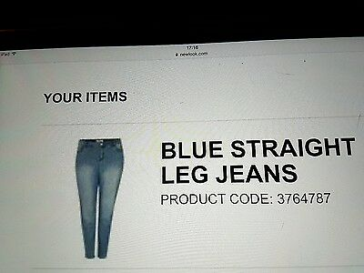 New Look Inspire Size 20 Blue Jeans