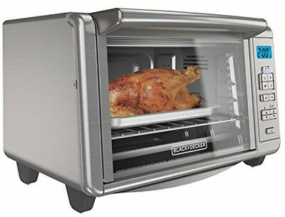 6-Slice Digital Convection Countertop Toaster Oven Bake Pan Broil Toasting Rack