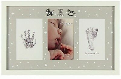 Baby Hand Foot Print Photo Frame Picture Christening Nursery Decoration Gift
