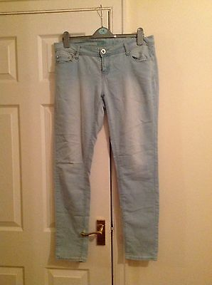 Pale Blue Skinny Jeans Size 14 from Denim Co.