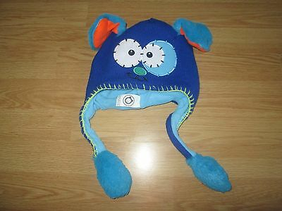 FLIPEEZ blue puppy dog warm winter hat with moving ears VGC childs/boys/girls