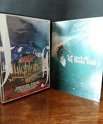 2 Surfing DVDS O'Neil Mission/Highland Quiksilver Young Guns 2