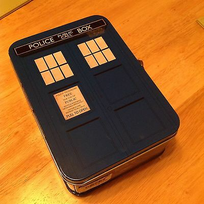 New Official Bbc Dr Who Doctor Who Tardis Lunch Box Tall Tin Tote Case