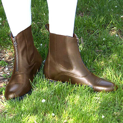 NEW Ladies Intrepid Synthetic Zip Paddock Boots - Black & Brown - US 5.5 and 11