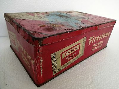 Vintage Firestone Tires/hot Seal Patches Advertising Tin Automobile Collectibles