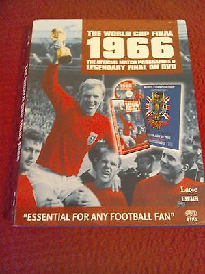 The World Cup Final 1966 - England v Germany PROGRAMME and DVD used