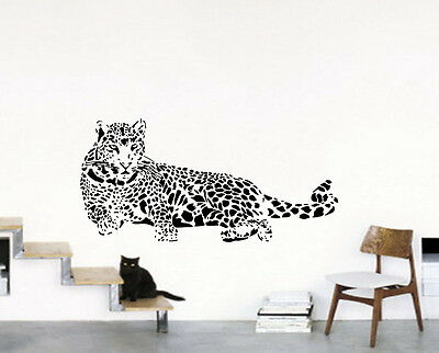 Large Leopard Wall Art Animal Zoo Art Deco Bedroom Living Room Show Piece Mural