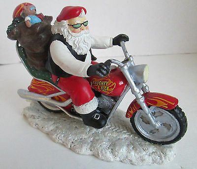 Rebel Without A Claus Collection 'Santa is Cruisin to Town' Figurine Numbered