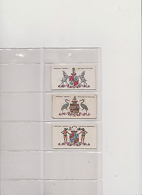 "3  "" Heraldy ""  Series  1....taddy...1910...scarce  Cards"