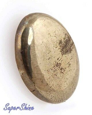 24.40Cts. GORGEOUS NATURAL GOLDEN PYRITE OVAL CABOCHON LOOSE GEMSTONE 10897