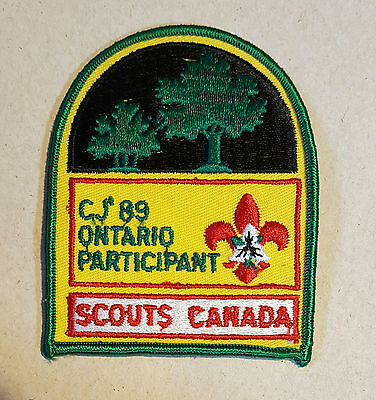 Boy Scouts Canada CJ 89 Jamboree Ontario Participant patch never used